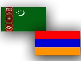 Turkmenistan_Armenia_flags_291112